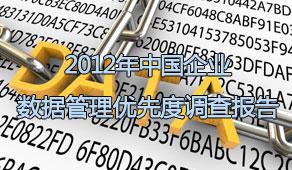 2012年中国企业数据管理优先度调查报告
